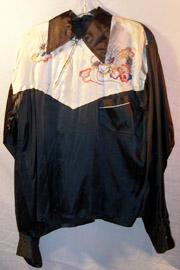 1940's-50's Western Style Dragon Silk Tour Shirt / Jacket