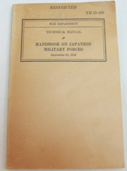 WWII US War Department Manual Handbook On Japanese Military Forces