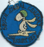 587th Signal Company Snoopy Design Pocket Patch Vietnam
