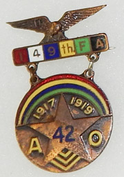 149th Field Artillery 42nd Division Presentation Medal