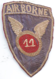 11th Airborne Division Theatre Made Patch