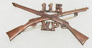 115th Military Police Officers Collar Device