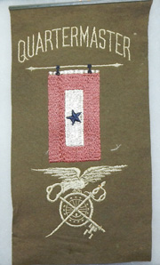 Quartermaster Corps Son In Service Wool Flag