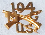 104th Machine Gun Infantry Shirt Size Officers Insignia