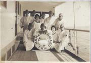 WWII Japanese Army Covalescent Soldiers Onboard Ship