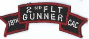 18th Combat Aviation Company 2nd Flight Gunner Scroll Vietnam