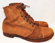 WWI Army Rough-out Low Quarter Shoes / Boots
