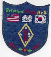 1st Marine Division Korea Tour Back Patch