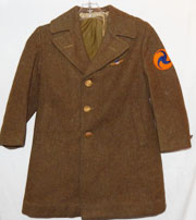 Late 1930's Air Corps Headquarters Kids Wool Overcoat