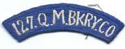 127th Quartermaster Bakery Company Tab