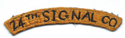 24th Signal Company Japanese Made Tab