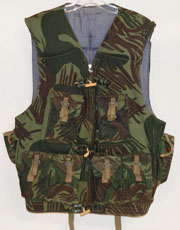 Rhodesian Army Identified Camo Fire Force Vest