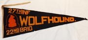 27th Infantry WOLFHOUNDS Wool Pennant