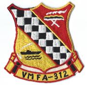 Vietnam Era US Marine Corps VMFA-312 CHECKERBOARDS  Squadron Patch