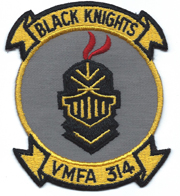 Vietnam Era US Marine Corps VMFA-314 BLACK KNIGHTS Squadron Patch
