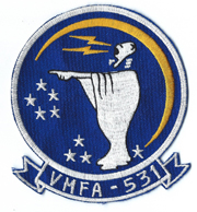 1970's US Marine Corps VMFA-531 Squadron Patch
