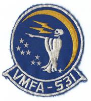 1970's US Marine Corps VMFA-531 Squadron Patch