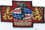 Vietnam Era 566th Ambulance Japanese Made Pocket Patch
