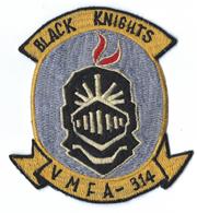 Vietnam Era US Marine Corps VMFA-314 BLACK KNIGHTS Squadron Patch
