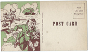 WWII Anti-Hitler Home Front Postcard