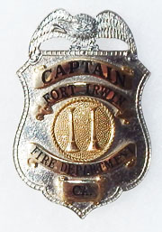 1960's Fort Irwin California Fire Department Captains Badge