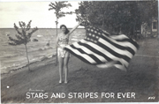 WWII Stars And Stripes Forever Real Photo Postcard