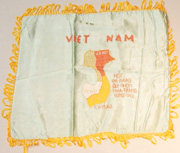 Vietnamese Made Map Of Vietnam Souvenir Pillowcase