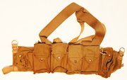 Rhodesian Khaki Canvas Selous Scouts Ammo Chest Rig