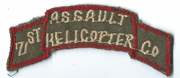 Vietnam 71st Assault Helicopter Company Scroll