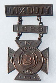 1929 369th Infantry Harlem Hellfighters New York Duty Medal