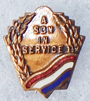 WWI Or WWII A Son In Service Patriotic / Sweetheart Lapel Pin