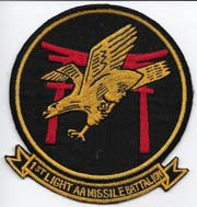 US Marine Corps 1st Light Anti-Aircraft Missile Battalion Patch