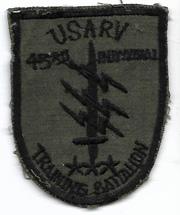 Vietnam 43rd Individual Training Battalion USARV FANK Advisors Pocket Patch