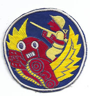 ASMIC WWII - Occupation Period Aviation Engineers Japanese Raw Silk Patch