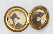 WWI Button Photo Locket