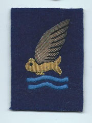 WWII AAF / RAF Goldfish Downed Pilot Bullion Patch