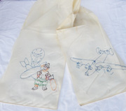 WWII Australian Made 319th Bomb Squadron 90th Bomb Group Pilots Parachute Silk Scarf