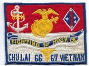 US Marine Corps 1st Hospital Company Chu Lai Vietnam 1966-67 Patch