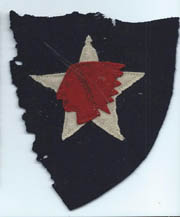 WWI 2nd Division Patch