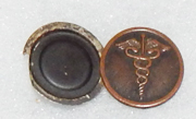 WWI Medical Photo Locket Enlisted Collar Disc