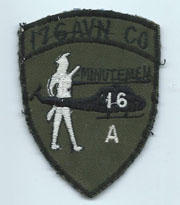 Vietnam 176th Aviation Company MINUTEMAN Pocket Patch