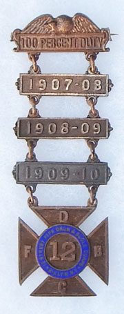 1907-1910 12th Street Fife & Drum Named Service Medal