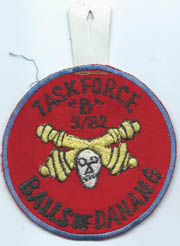 Vietnam Task Force B 3/82nd Artillery BALLS OF DANANG Pocket Hanger