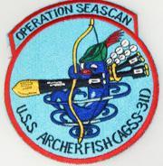 Vietnam Era US Navy Operation Seascan USS Archerfish (AGSS-311) Patch