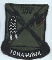 Vietnam 128th Aviation TOMAHAWKS Pocket Patch