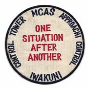 US Marine Corps Air Station Iwakuni Control Tower Squadron Patch