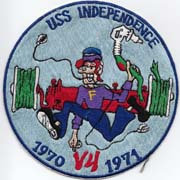 Vietnam Era US Navy Big Daddy Roth Style USS Independence V4 DIV Japanese Made Ships Patch
