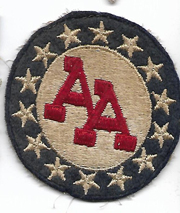 WWII 14th Anti-Aircraft Artillery Command Patch On Felt