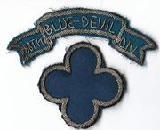 WWII 88th Blue Devil Division Bullion Patch Set