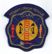 Korean War US Air Force Misawa Air Base Crash Rescue Japanese Made Bullion Patch